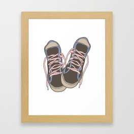 Trainers or Sneakers Illustration Framed Art Print