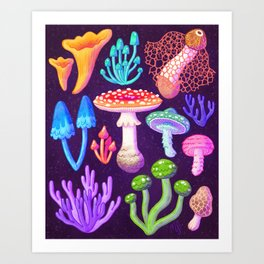 Mycology Collection Art Print