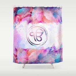 Watercolor Ek Onkar / Ik Onkar symbol Shower Curtain