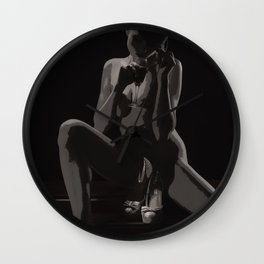 A Ladies Art Wall Clock