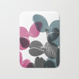 Tri-color cactus Bath Mat