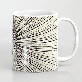 Radiant decorated moon minimal seascape - black lines on neutral Coffee Mug