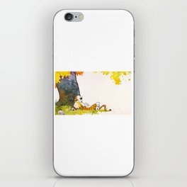 calvin hobbes sleep iPhone Skin