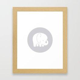 Mod Baby Elephant Grey Framed Art Print