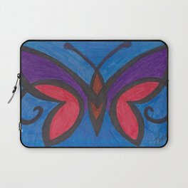 Stained Glass Butterfly Laptop Sleeve