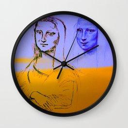 Mona Yellow&Blue Wall Clock