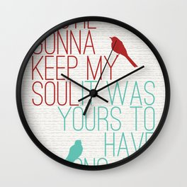 Keepsake - State Radio Lyrics Wall Clock