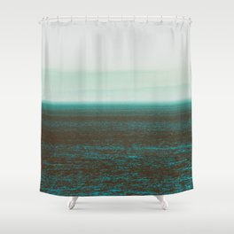 Sea front green Shower Curtain
