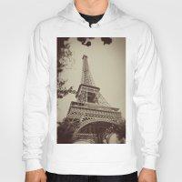 eiffel tower Hoodies featuring Eiffel Tower by AngelicaRoesler