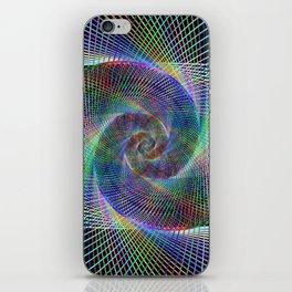 Fractal spiral iPhone Skin