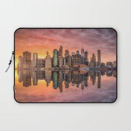 New York City Morning Skyline NYC Laptop Sleeve