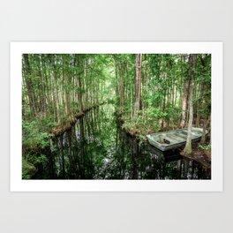 Swamp Boat Art Print