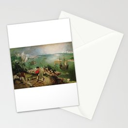 Landscape With The Fall Of Icarus - Pieter Bruegel the Elder Stationery Cards