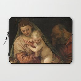 """Veronese (Paolo Caliari) """"The Holy Family with the Infant St. John the Baptist"""" Laptop Sleeve"""