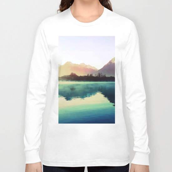 Mountains #watercolor Long Sleeve T-shirt