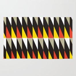 Geometric Pattern #187 (harlequin red yellow) Rug