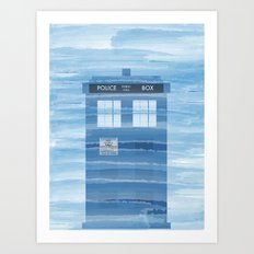 TARDIS Under the Sea - Doctor Who Digital Watercolor Art Print