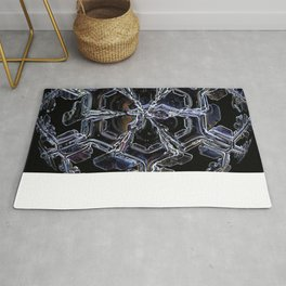 Water as a Crystal, pattern snowflake art on leggings and more! Rug