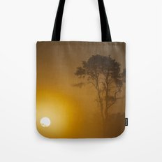 Rising Sun And Tree Tote Bag