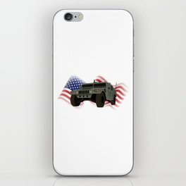 Patrotic HUMVEE Army Military Truck iPhone Skin