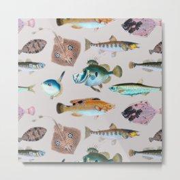 Just Keep Swimming | Watercolor Fish No. 4 Metal Print