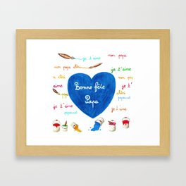 Father's day Framed Art Print