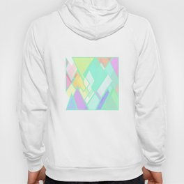 Pastel Colors, Geometric Abstract Art. Hoody