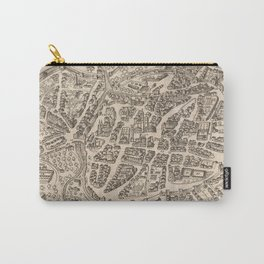 Vintage Map of Vicenza Italy (1588) Carry-All Pouch
