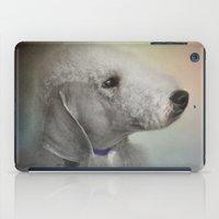 terrier iPad Cases featuring Bedlington Terrier by Jai Johnson
