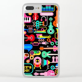 Musical Composition Clear iPhone Case