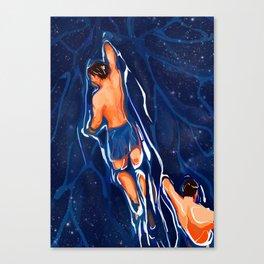 The Swim Back Canvas Print