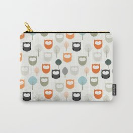 Owls With Trees Carry-All Pouch