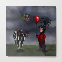 Beetle Juice and Lydia Metal Print