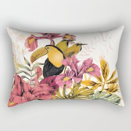 Tropical Garden Tucan Rectangular Pillow