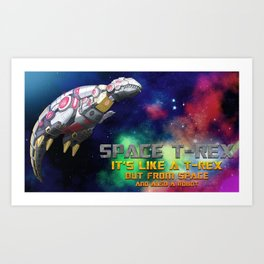 Space T-Rex  Art Print