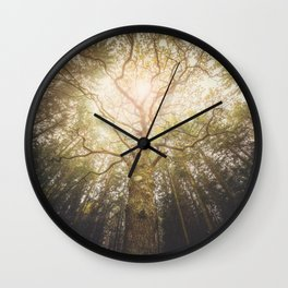 I found a tree in the forest Wall Clock