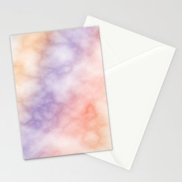 Rainbow marble texture 1 Stationery Cards