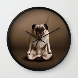 Pug the Yoga Doga Dog Wall Clock