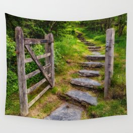 Path Into The Forest Wall Tapestry