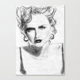 Womans face  Canvas Print