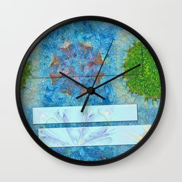 Paradoxism Being Flowers  ID:16165-073708-09691 Wall Clock