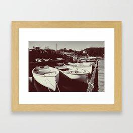 Rescue Boats Framed Art Print