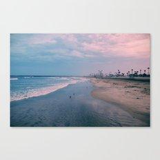 Rainy Day at the Beach Canvas Print