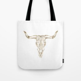 Bull Skull Gold Tote Bag