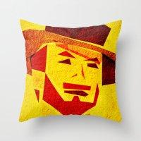 clint barton Throw Pillows featuring Clint by Triplea