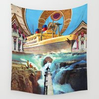 eugenia loli Wall Tapestries featuring Far Out Flood by Eugenia Loli