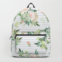 succulent, floral, leaf Backpack