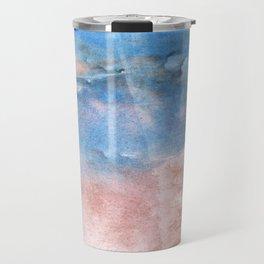 Corn flower blue vague watercolor Travel Mug
