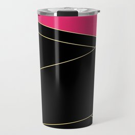 Angelica . Raspberry , black Travel Mug