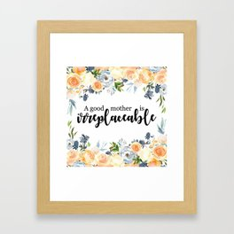 A good mother | Mother's day gift Framed Art Print